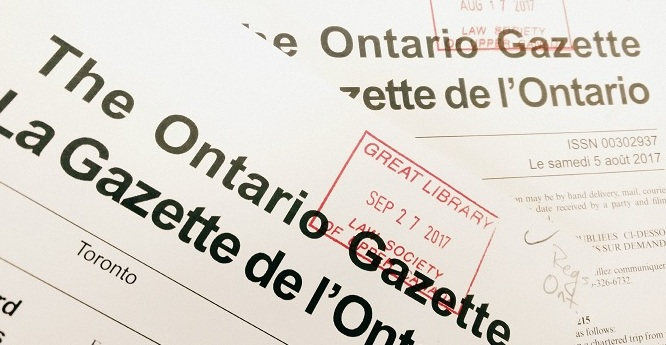 Finding Old Regulations: Part I – Ontario