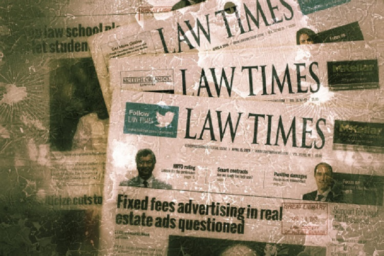 Law Times Ceases Weekly Print Issues
