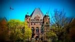 Ontario legislature building at Queen's Park, Toronto