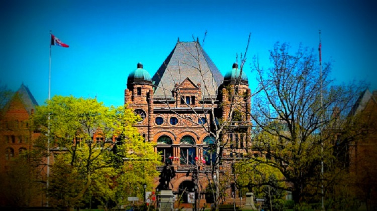 Ontario legislature building at Queen's Park, Toronto