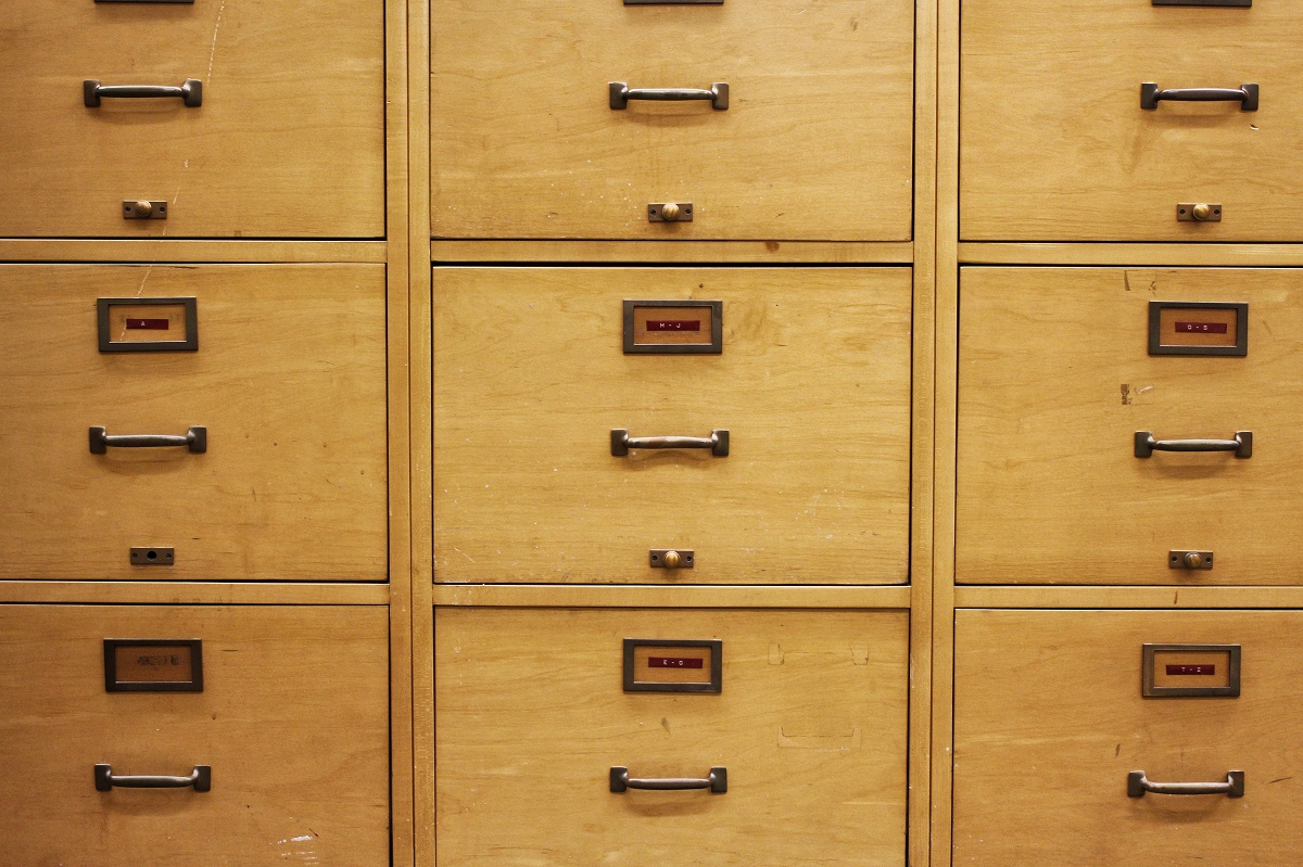 File cabinet fronts